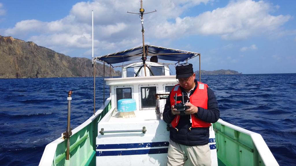 小笠原諸島での撮影の様子